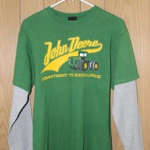 John Deere Layered T-Shirt Boys sized 14